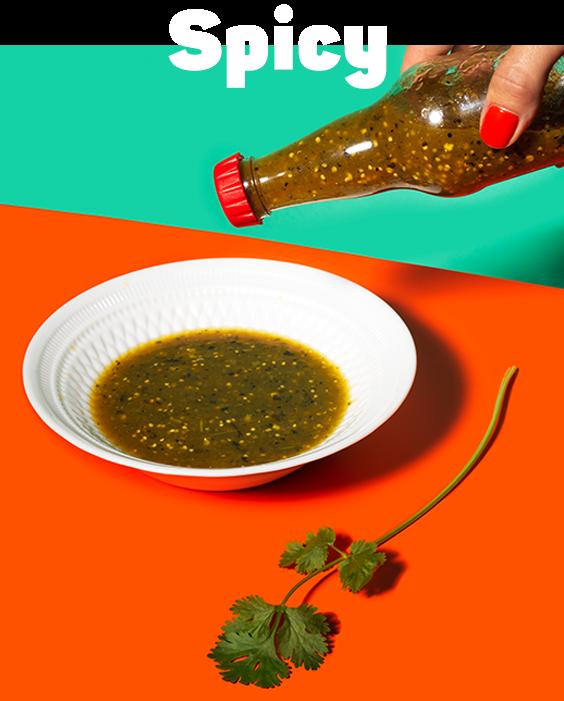 Zingy salsa verde