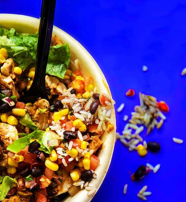 Burrito bowl Mexican food