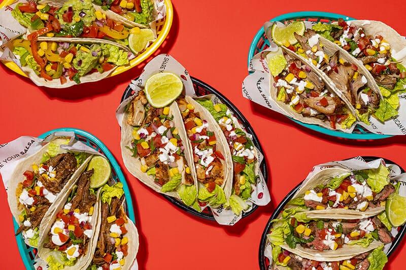 Salsa Shop burrito taco or salad delivery